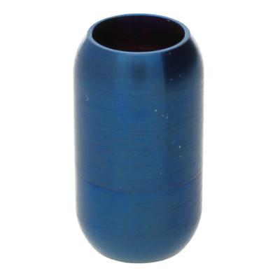 Magnetverschluss, 8mm, 21x12mm, Edelstahl, matt, blau