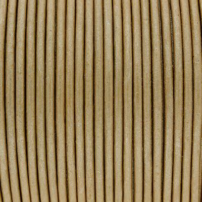 Rundriemen, Lederschnur, 100cm, 1mm, METALLIC OLIVE GREY