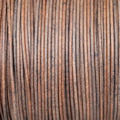 Rundriemen, Lederschnur, 100cm, 2mm, VINTAGE TAUPE GREY