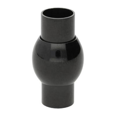 Magnetverschluss, 6mm, 19x10mm, Edelstahl, schwarz
