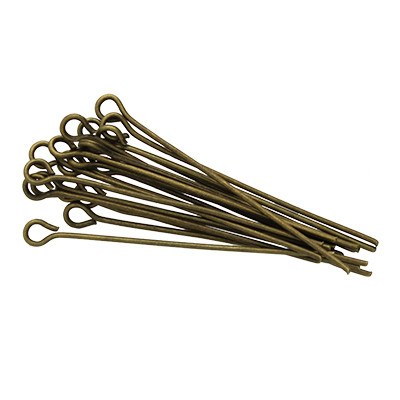 Kettelstifte (50 Stück), 35x0,7mm, Stäbchen (Stiftform), bronzefarben, Metall