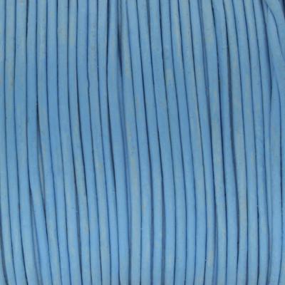 Rundriemen, Lederschnur, 100cm, 3mm, PASTELL BLAU