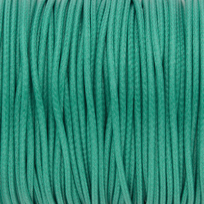 Gewachstes Schmuckband aus Baumwolle, 100cm, 1,5mm breit, MINZGRÜN