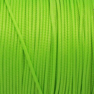 Gewachstes Schmuckband aus Baumwolle, 100cm, 1,5mm breit, neongrün