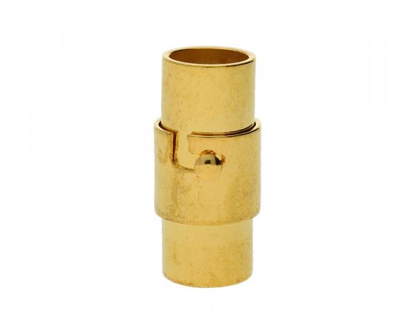 Magnetverschluss, 6mm, 17x8mm, Metall, goldfarben