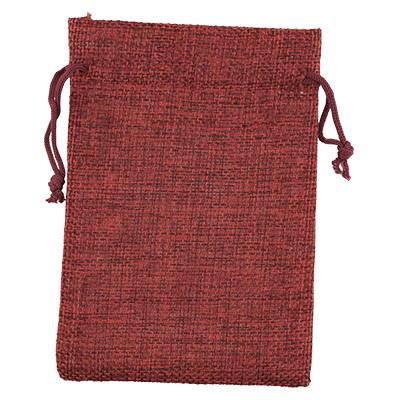 Geschenkbeutel aus Jute, 13,5x10cm, ROT