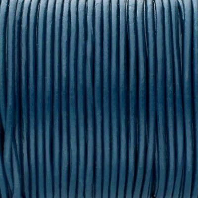 Rundriemen, Lederschnur, 100cm, 3mm, PETROL
