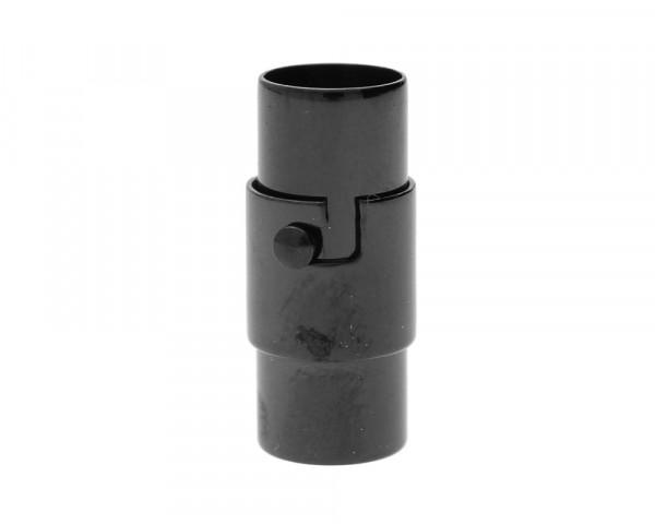 Magnetverschluss, 6mm, 18x8mm, Edelstahl, Schwarz
