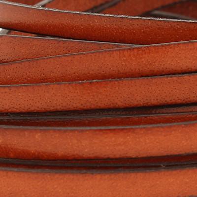 Flachriemen Rindsleder, 100cm, 10x1,5mm, SATTELBRAUN