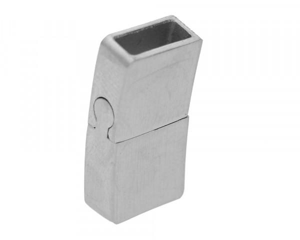Magnetverschluss, 21x10,5x5mm, innen 8x3mm, Edelstahl matt