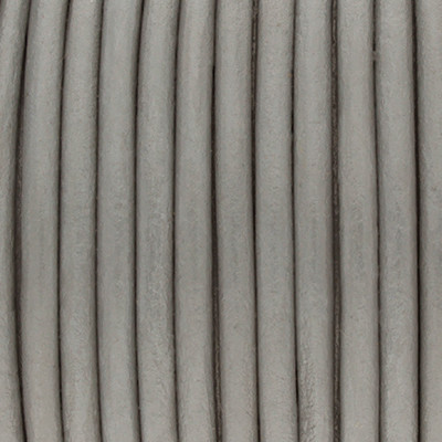 Rundriemen, Lederschnur, 100cm, 3mm, MAUSGRAU