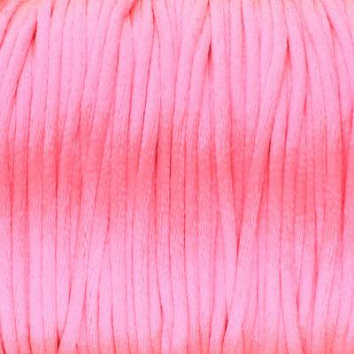 Satinband, Satinkordel, rund (100cm), 2,0mm breit, neon pink