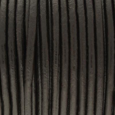 Rundriemen, Lederschnur, 100cm, 3mm, DUNKELBRAUN
