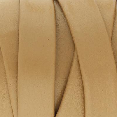Flachriemen aus Nappaleder beidseitig, 10x2mm, 100cm, HELLTAUPE
