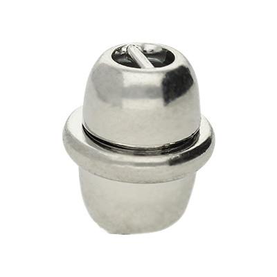 Magnetverschluss mit Steg innen, 3x2mm, 15x13mm, silberfarben, Metall