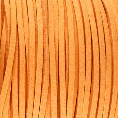 Textilband in Wildlederoptik 3,00mm - ORANGE