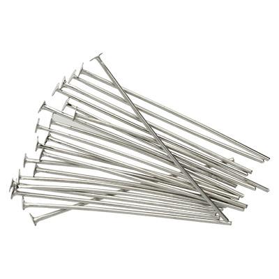 Nietstifte (50 Stück), 35x0,7mm, Stäbchen (Stiftform), platinfarben, Metall