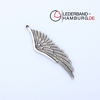 """Anhänger """"Engelsflügel"""", 18x62x2mm, Öse: 1mm, antik-silberfarben, Metall"""