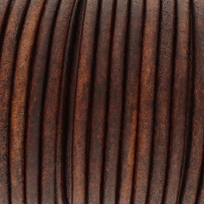 Rundriemen, Lederschnur, 100cm, 4mm, VINTAGE BRUNETTE