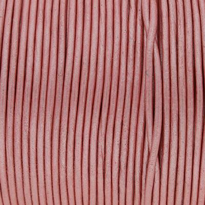 Rundriemen, Lederschnur, 100cm, 1,5mm, METALLIC WILD ROSE