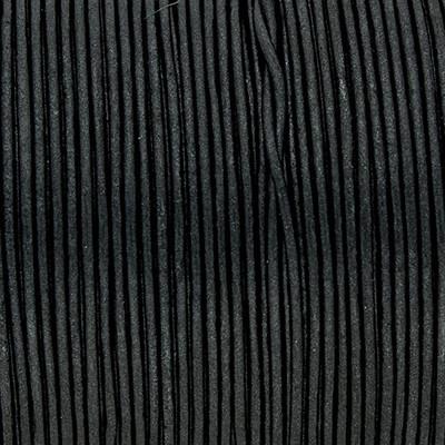 Rundriemen, Lederschnur, 100cm, 1mm, METALIC MOONLESS NIGHT