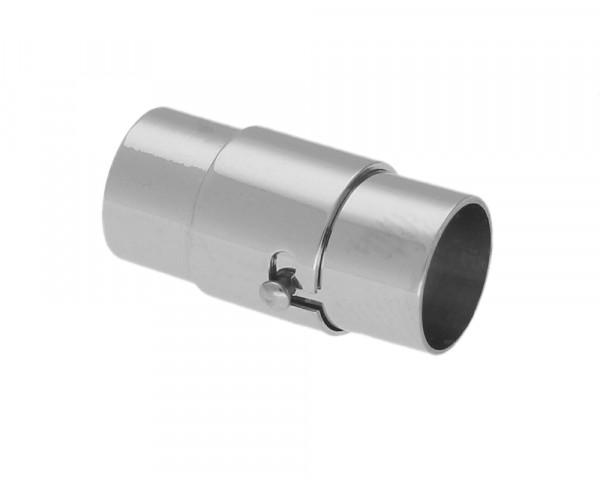 Magnetverschluss, 8mm, 20x10mm, Edelstahl, platinfarben