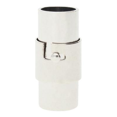 Magnetverschluss, 6mm, 17x8mm, Metall, Platinfarben