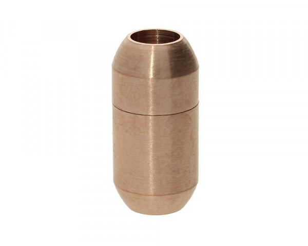 Magnetverschluss, 5mm, 18x9mm, Edelstahl matt, rosé gold
