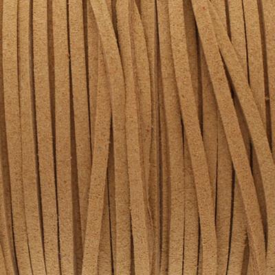 Textilband in Wildlederoptik (100cm), 2,5mm breit - BEIGEBRAUN