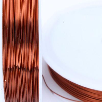 1 Rolle (ca. 100m) Schmuckdraht / Edelstahlseide, Ø 0,45mm, bordeaux