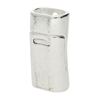 Magnetverschluss, 26x13x9mm, 11x7mm, Metall, silberfarben