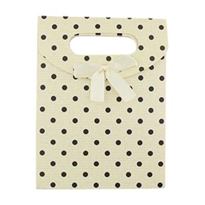 """Geschenkverpackung """"Polkadots"""", 16,6 x 12,5 x 6cm - WEISS"""