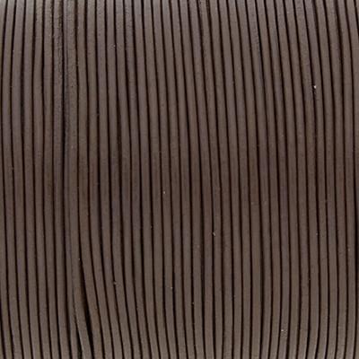 Rundriemen, Lederschnur, 100cm, 1mm, TAUPE dunkel