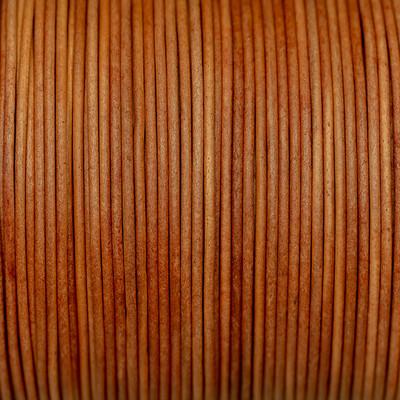 Rundriemen, Lederschnur, 100cm, 1mm, VINTAGE SUNBURN