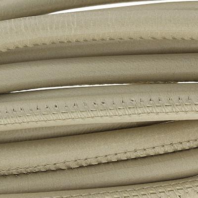 Nappaleder rund gesäumt, 100cm, 6mm, BEIGE