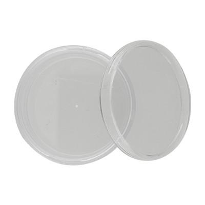Perlendöschen aus klarem Plexiglas, 50x31mm