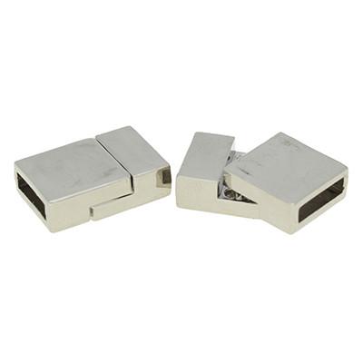 Magnetverschluss, 3x10mm, 7x13x20mm, Metall, silberfarben