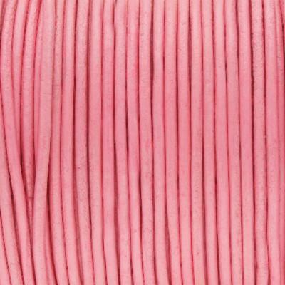 Rundriemen, Lederschnur, 100cm, 1,5mm, PINK