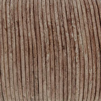 Rundriemen, Lederschnur, 100cm, 2mm, BRAUN meliert