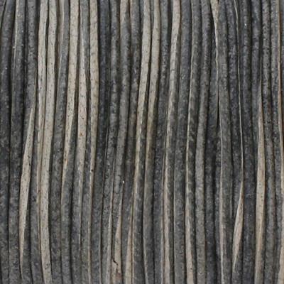 Rundriemen, Lederschnur, 100cm, 1mm, VINTAGE GRAUGRÜN