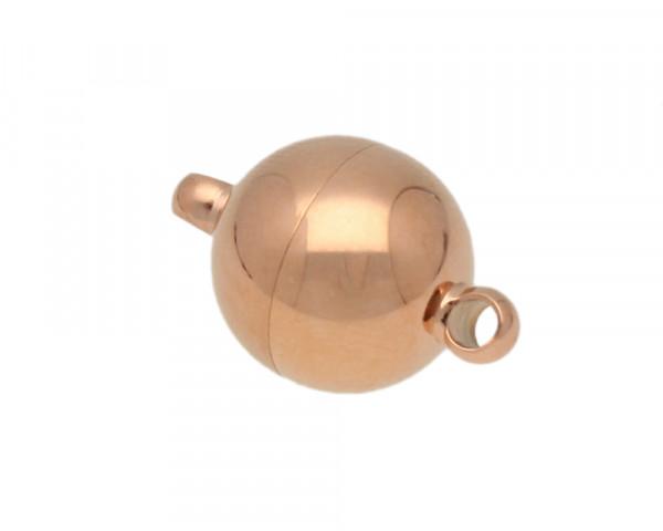 Magnetverschluss, Öse 2mm, 21x14mm, Edelstahl, roségoldfarben
