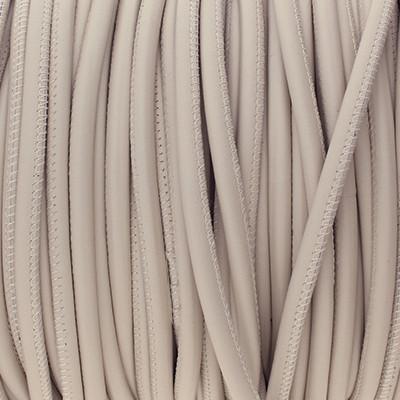 Premium Nappaleder rund gesäumt, 100cm, 5mm, CREME
