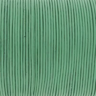 Rundriemen, Lederschnur, 100cm, 1mm, PASTELL MINZE