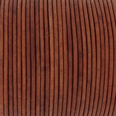 Rundriemen, Lederschnur, 100cm, 2mm, VINTAGE TANDORI SPICE