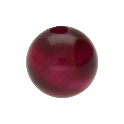Perle, innen 1mm, Ø 6mm, Tigerauge (Halbedelstein), bordeaux-rot