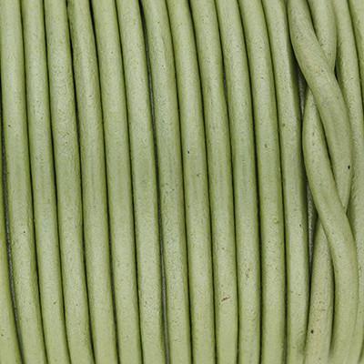 Rundriemen, Lederschnur, 100cm, 3mm, METALLIC HERBAL GARDEN