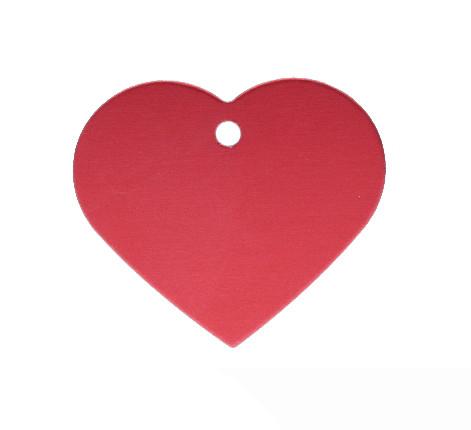 Anhänger, Herz, 32x35mm, rot, eloxiertes Aluminium
