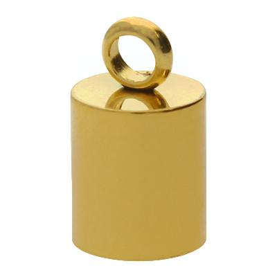 Endkappe mit Öse, innen 6mm, 11x7mm, goldfarben, Edelstahl