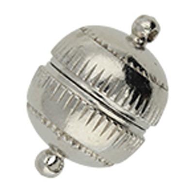 Magnetverschluss, 2mm (Öse), 23,5x16mm, Metall, platinfarben