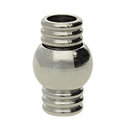 Magnetverschluss, 4,5mm, 16x10x10mm, Metall, silberfarben